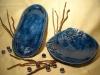 Schale mit Blätterranke + lange Schale oval